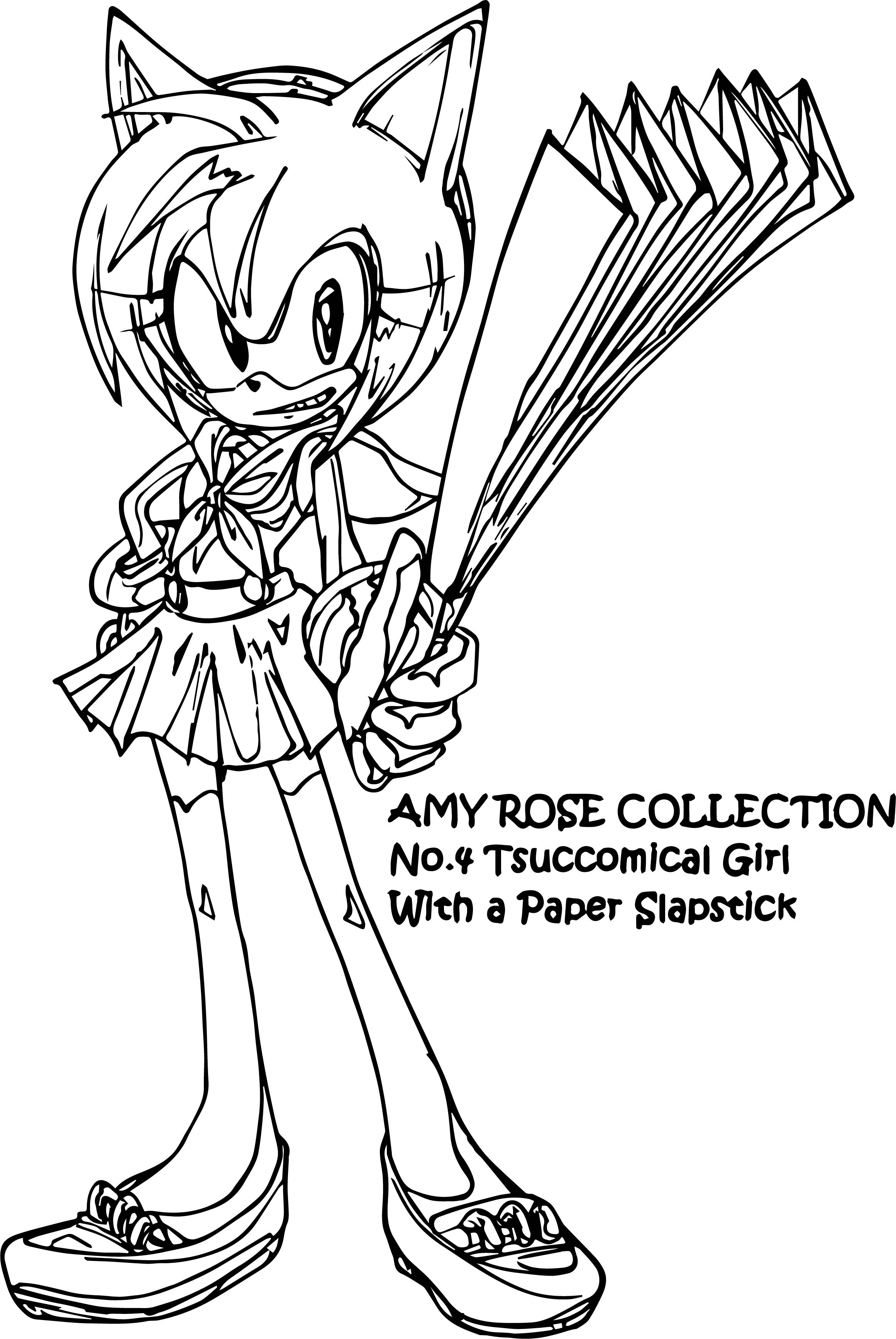 Amy Rose Collection Coloring Page