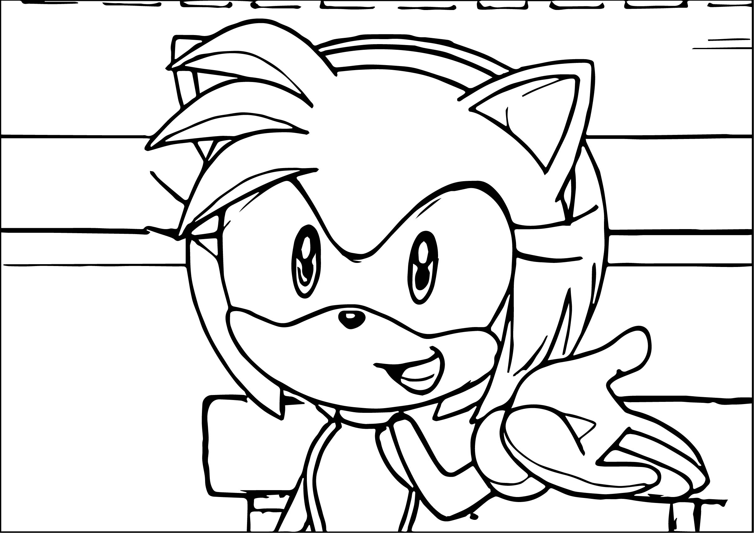 Amy Rose Hi Coloring Page