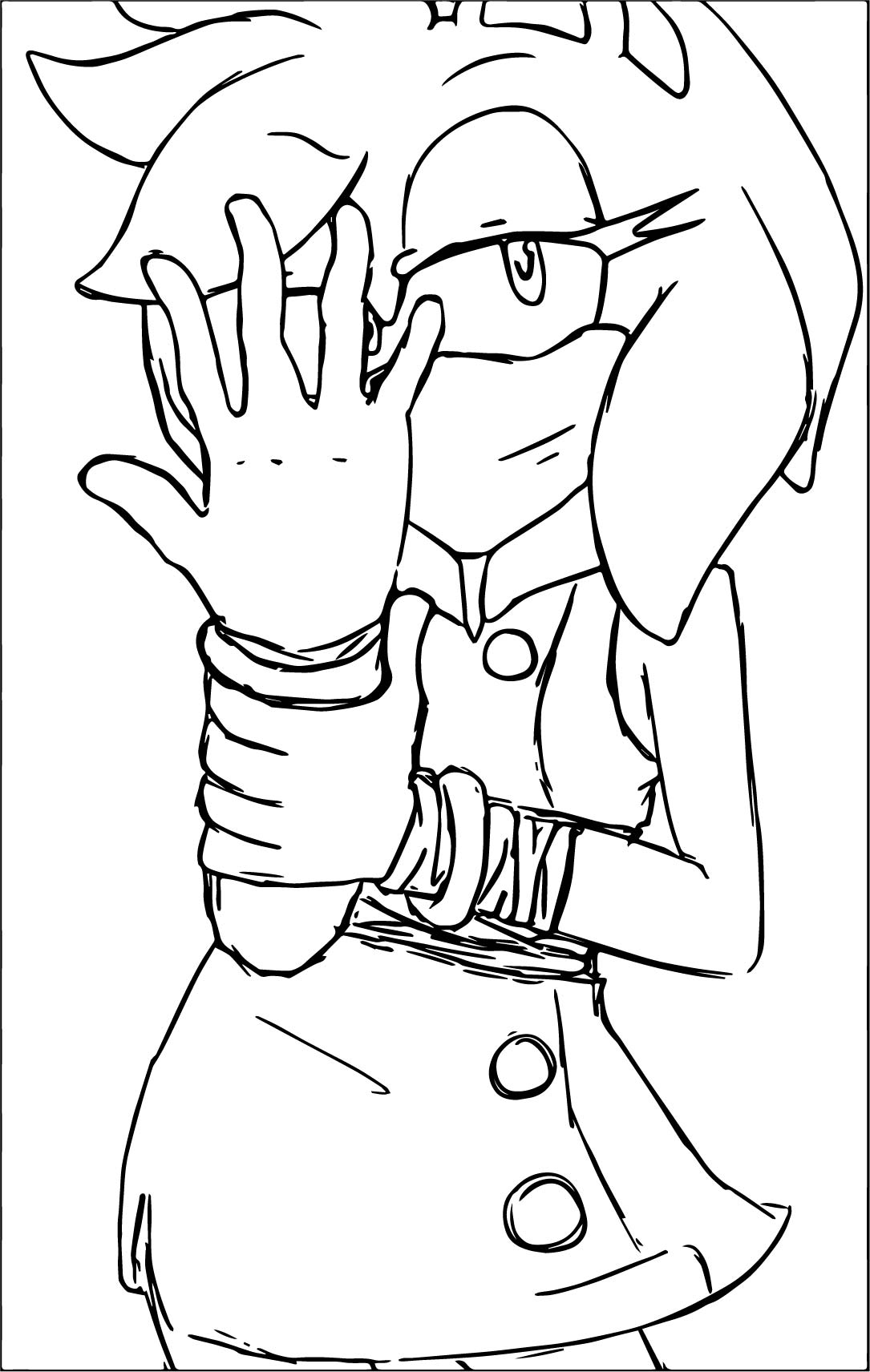 Amy Rose Hiding With Hand Coloring Page
