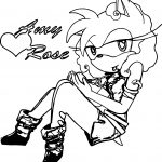 Amy Rose Hour Coloring Page