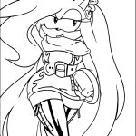 Amy Rose Long Hair Coloring Page