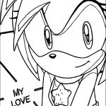 Amy Rose My Love Coloring Page