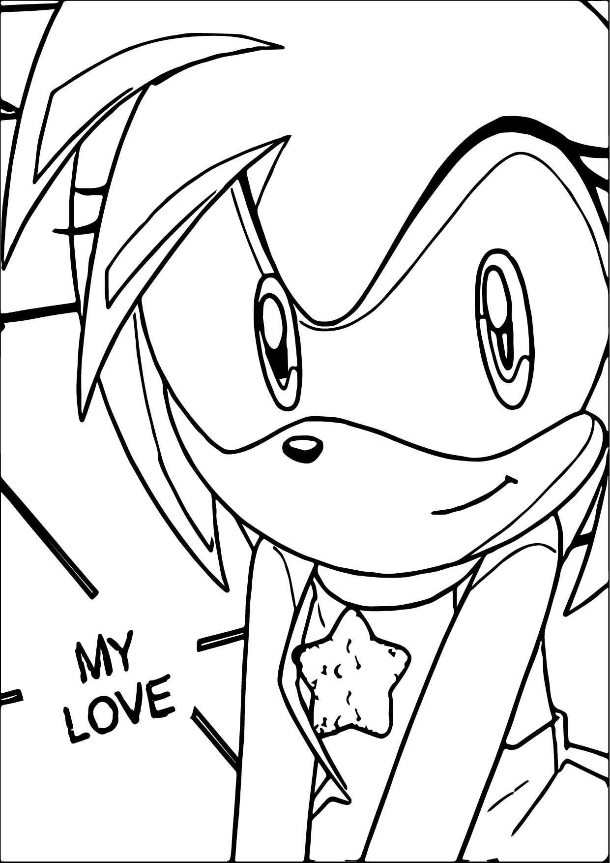 amy rose my love coloring page wecoloringpage