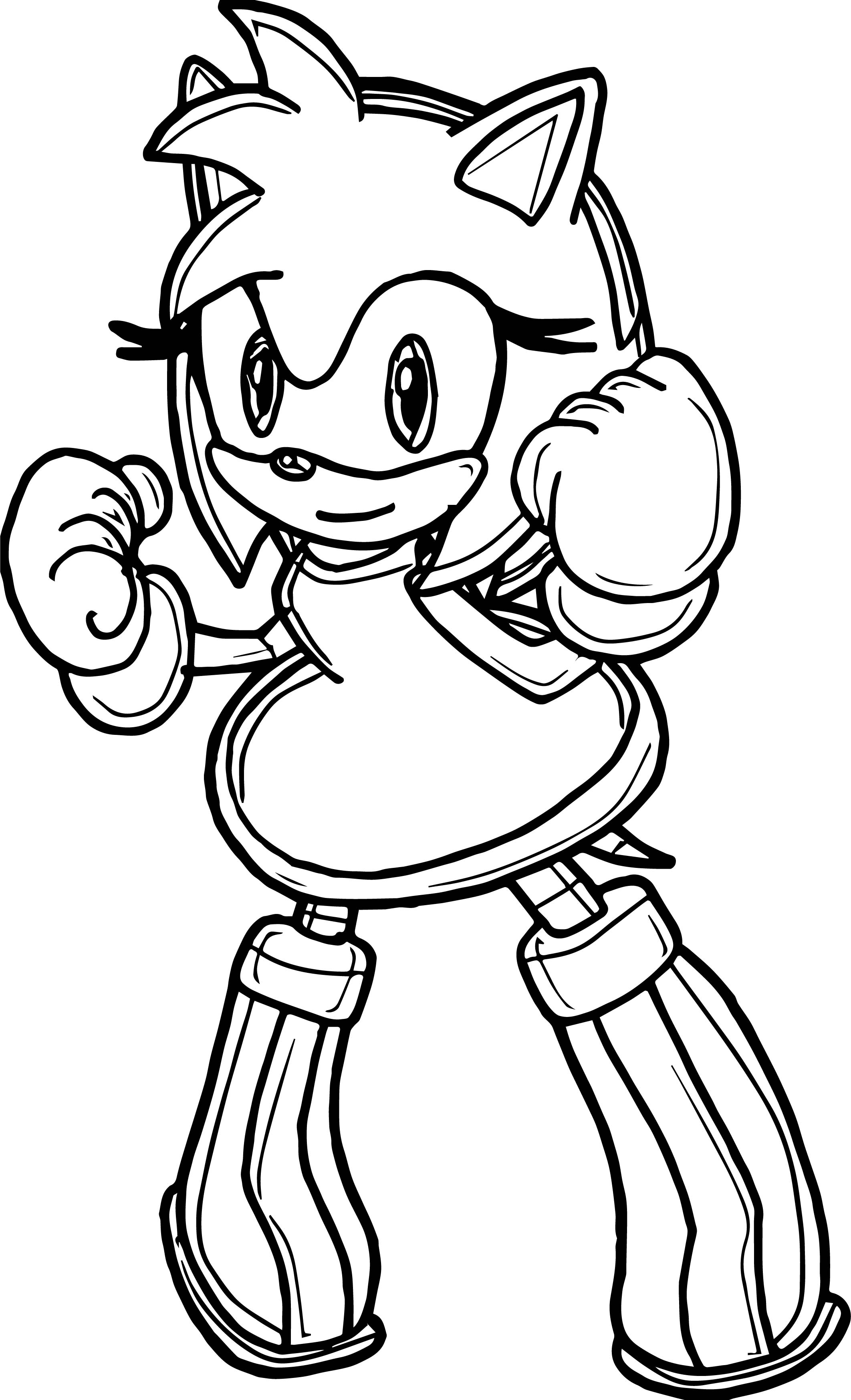 Amy Rose Punch Coloring Page