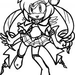 Amy Rose Sailor Moon Coloring Page