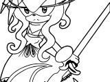 Amy Rose Samurai Coloring Page