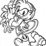 Amy Rose Telephone Coloring Page