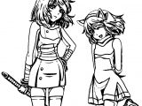 Amy Rose Two Girl Coloring Page
