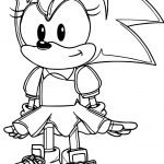 Amy Rose Very Small Coloring Page