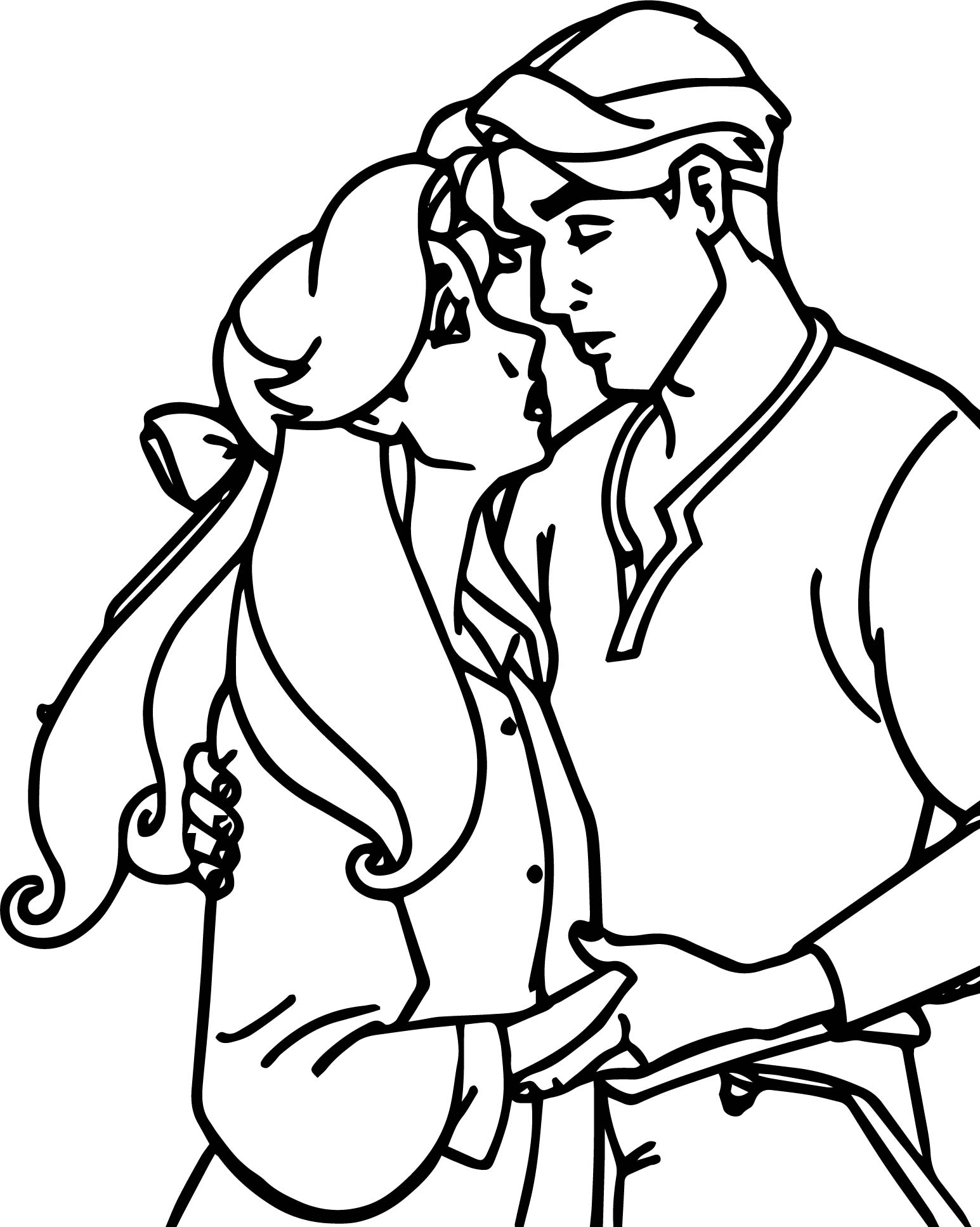 Coloring pages for boyfriend - Anastasia And Boyfriend Hope Coloring Pages