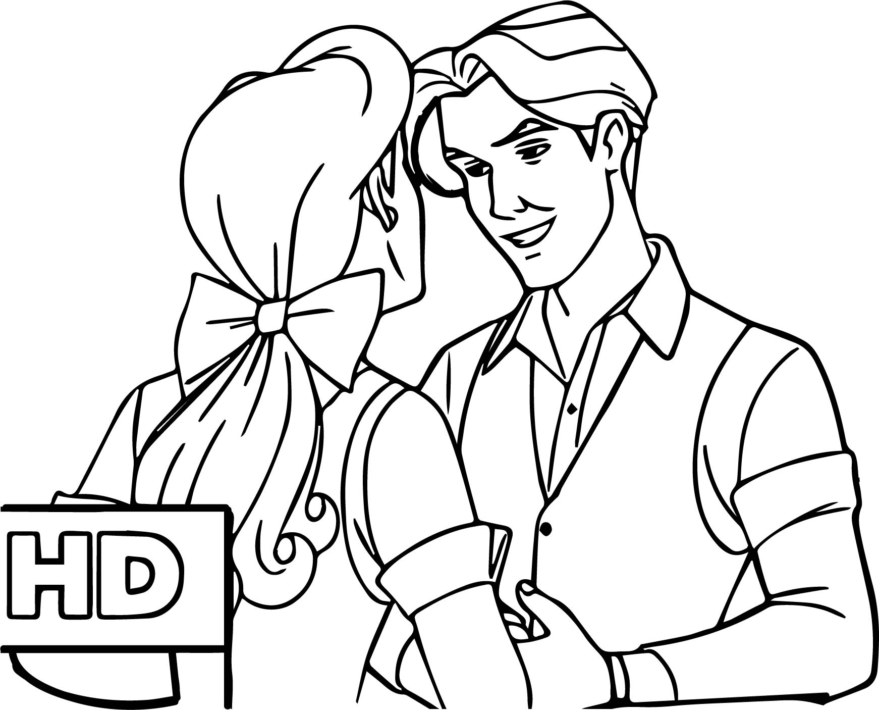 Anastasia And Dimitri Talking Coloring Page