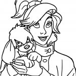 Anastasia And Dog Coloring Page