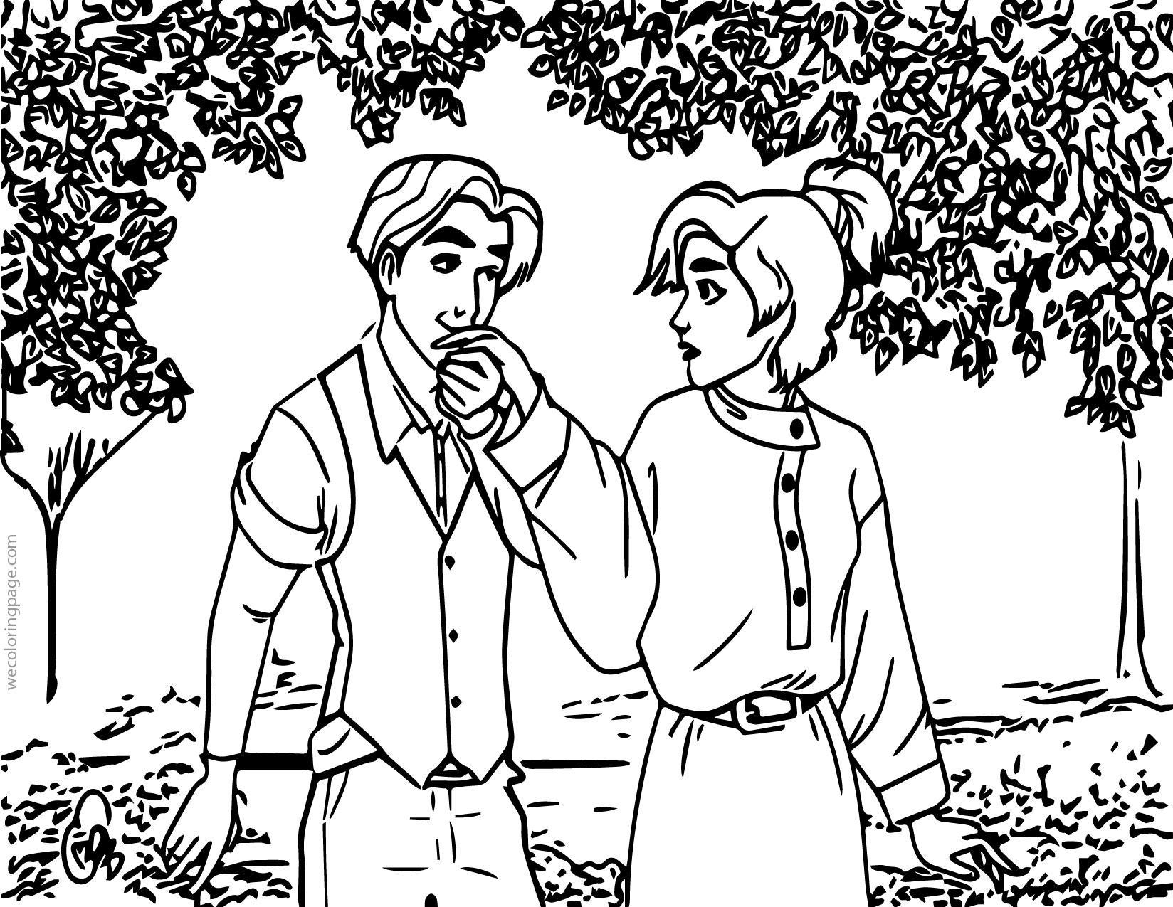 Anastasia Couple Coloring Page