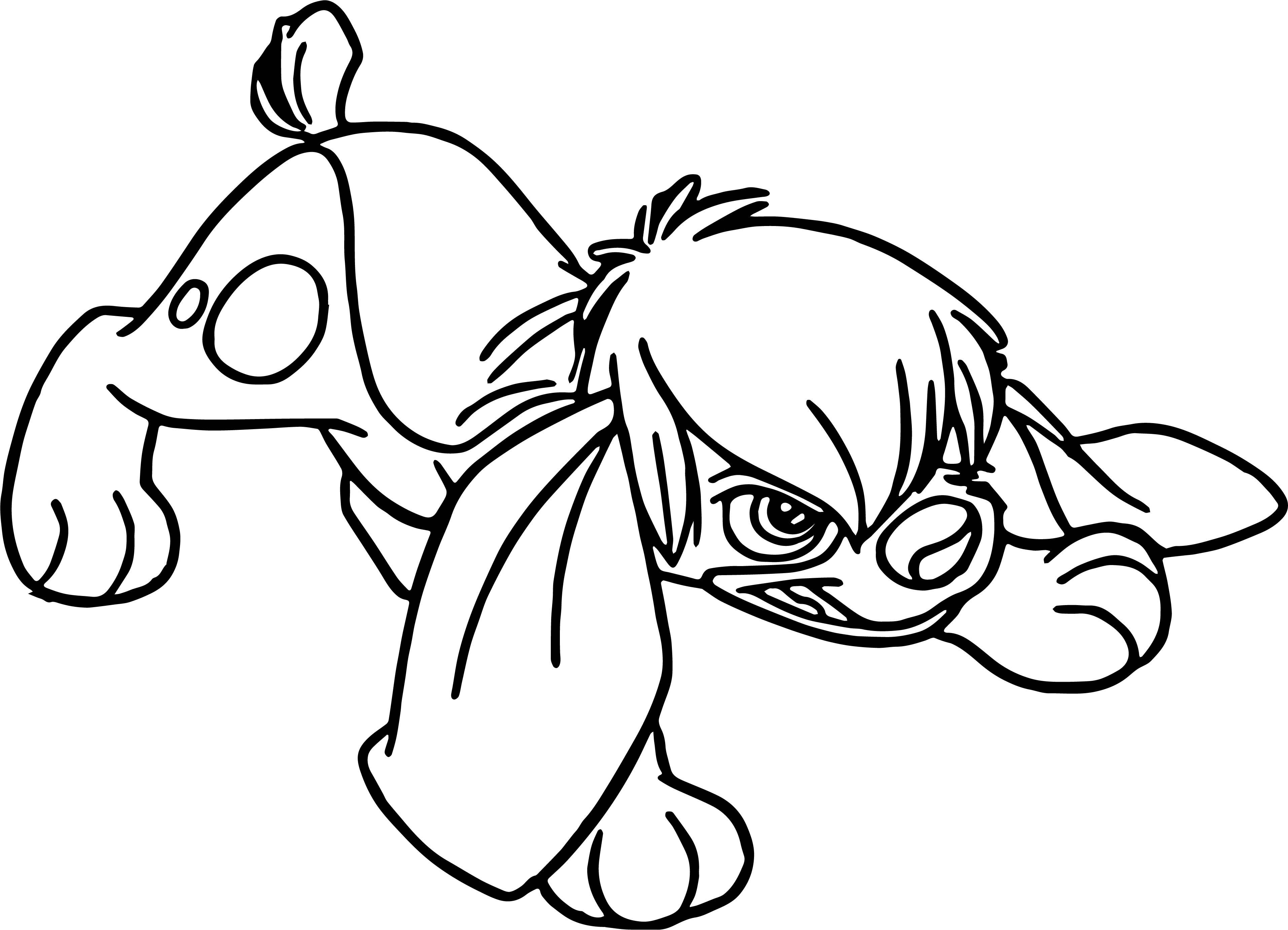 Anastasia Dog Angry Coloring Page