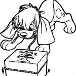 Anastasia Dog Cake Box Coloring Page