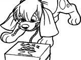 Anastasia Dog Cake Box Coloring Page