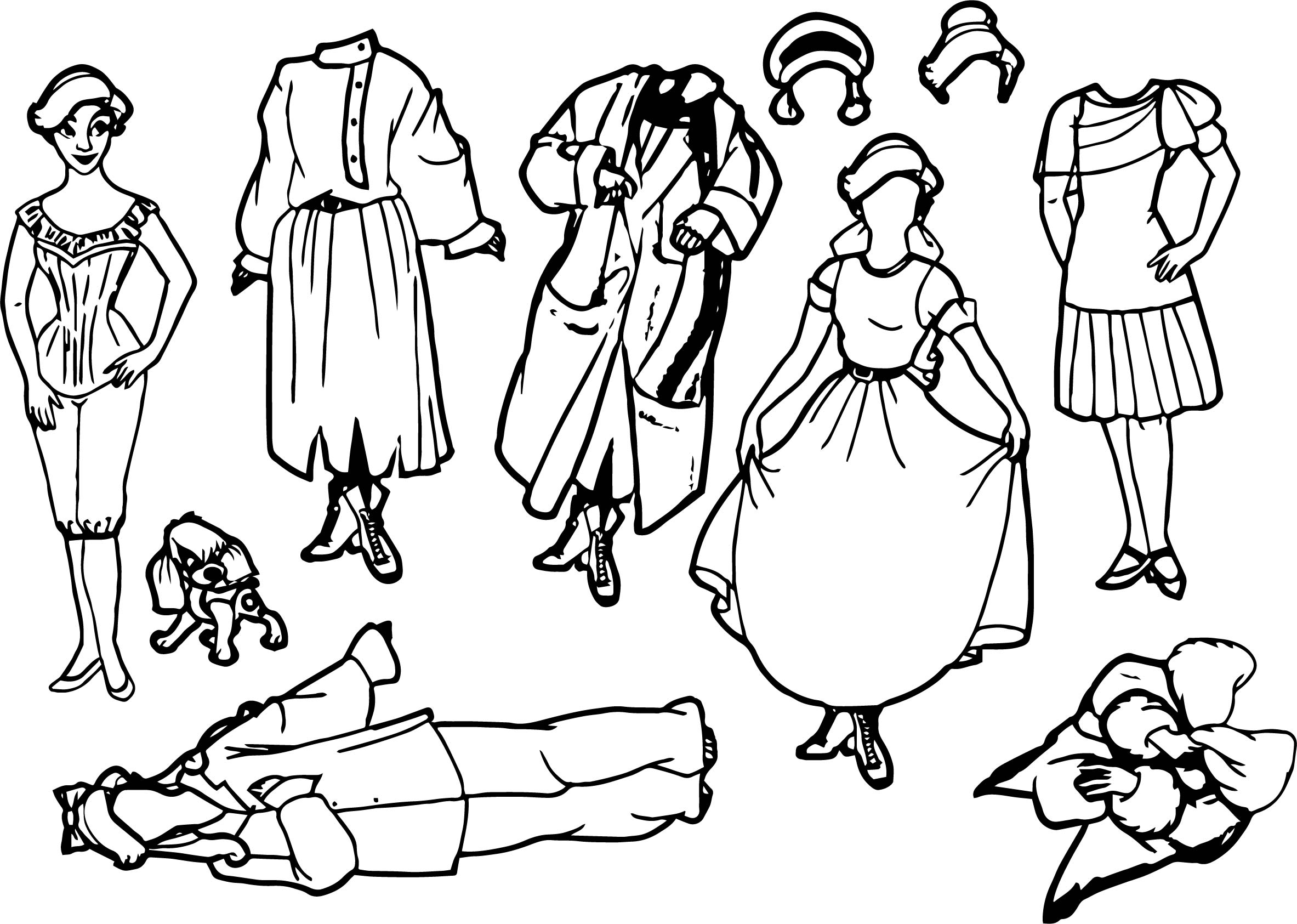 anastasia paper dolls coloring page - Paper Doll Coloring Pages
