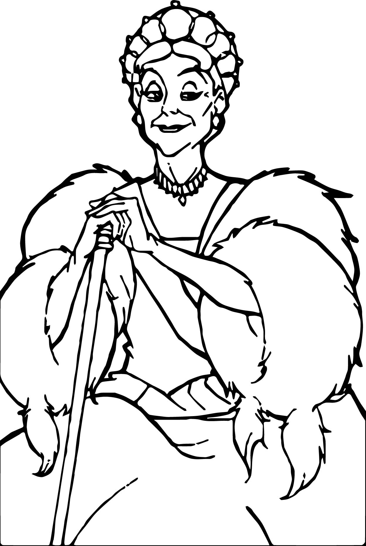 Anastasia Queen Coloring Page