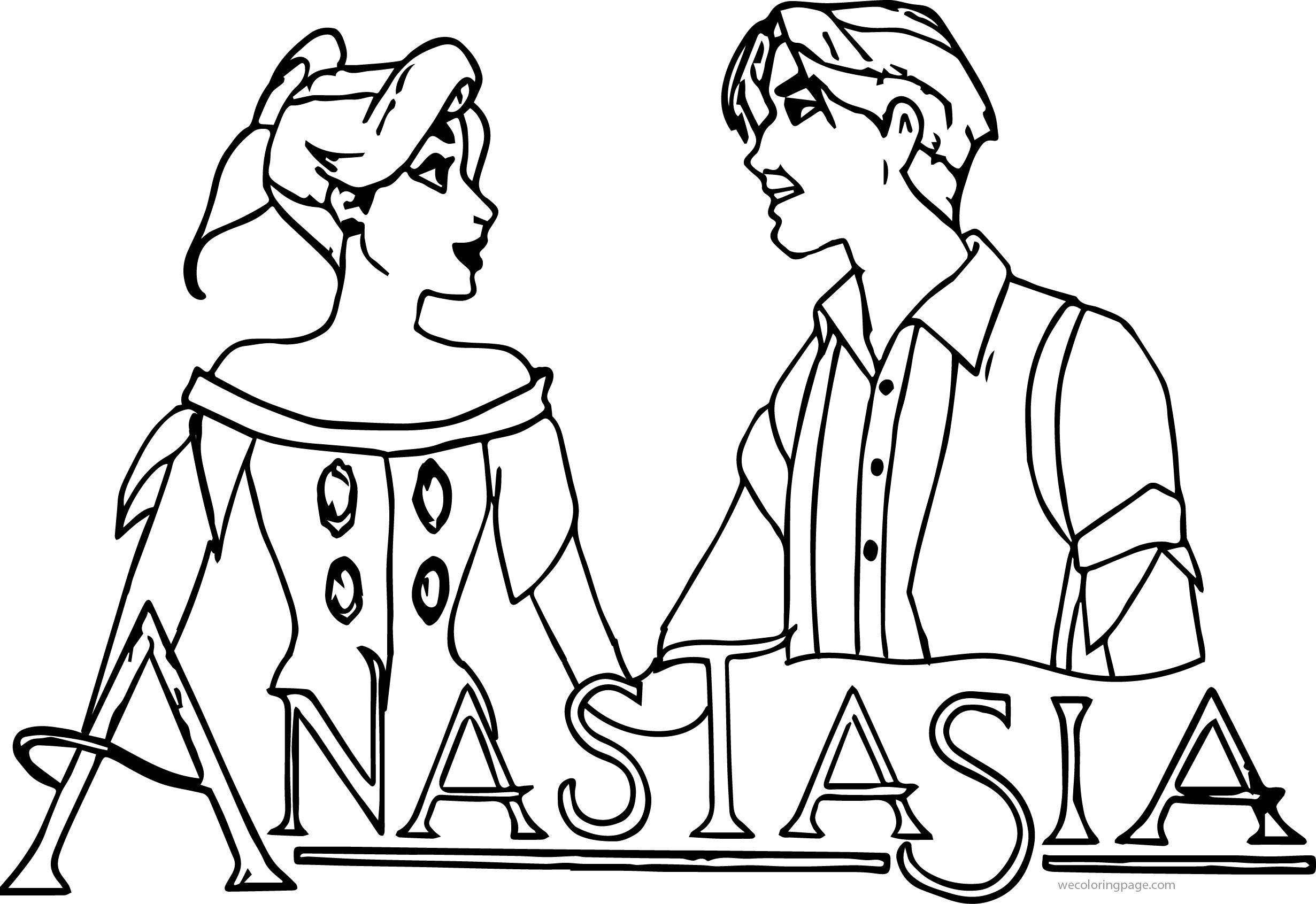 Anastasia Together Coloring Page
