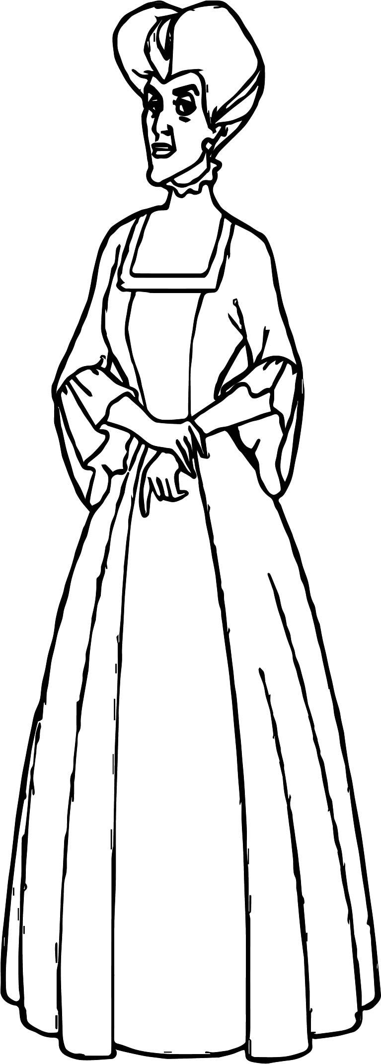 Anastasia Woman Coloring Page
