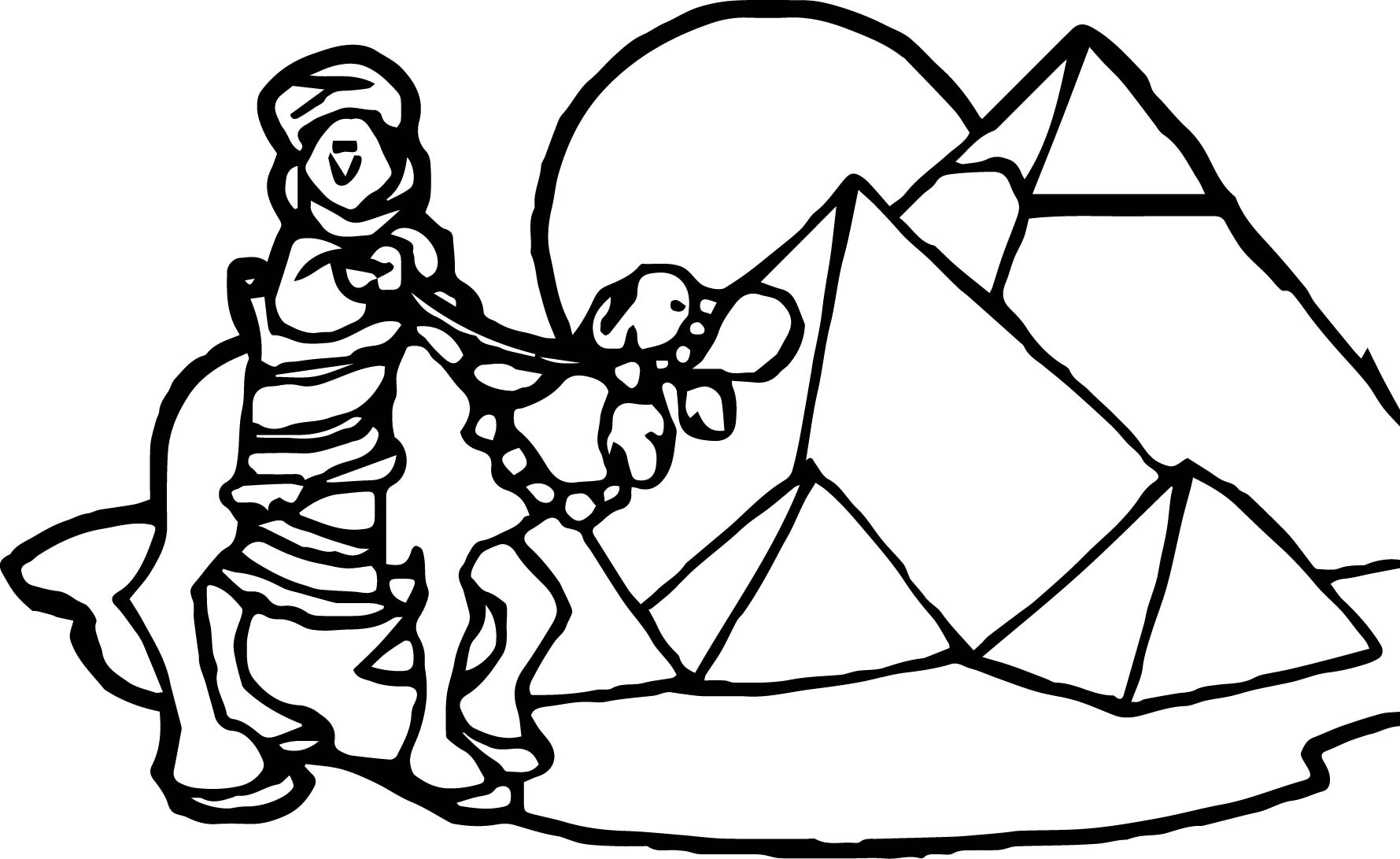 Ancient Egypt Dune Coloring Page