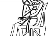 Ancient Egypt Girl Coloring Page