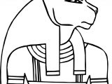 Ancient Egypt King Face Coloring Page