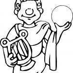 Ancient Egypt Man And Sphere Coloring Page