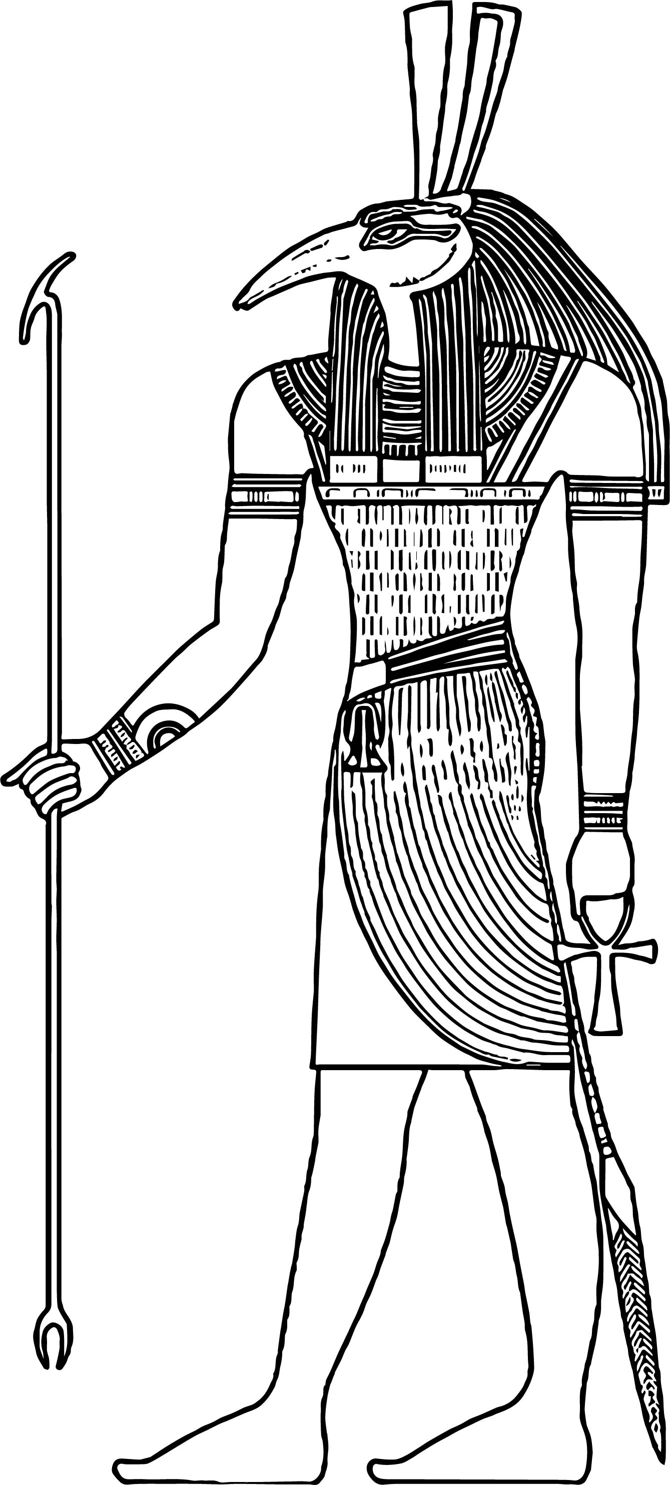 Ancient Egypt Symbol Man Coloring Page