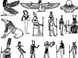 Ancient Egypt Symbol Set Coloring Page