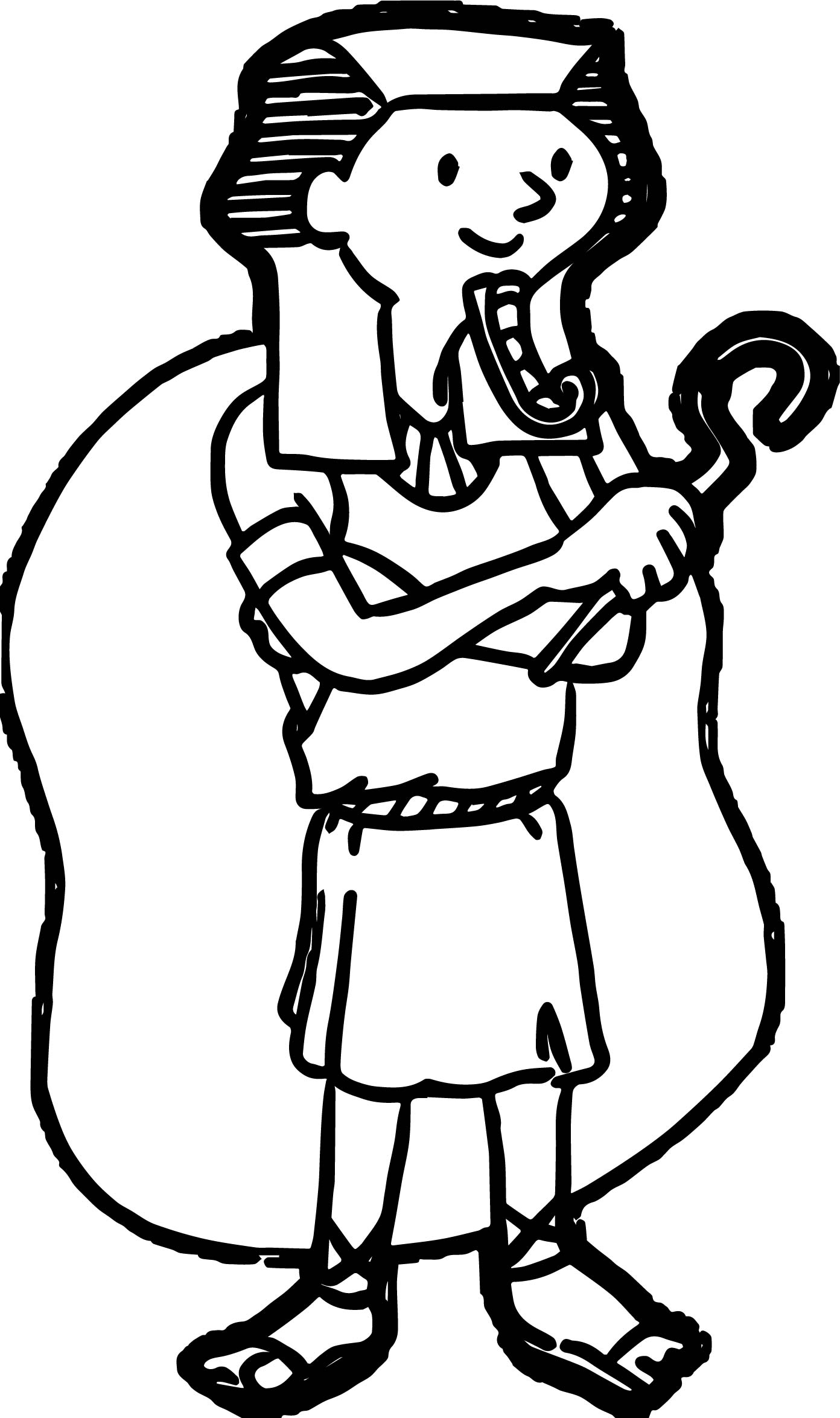 Ancient Egyptian Man Coloring Page