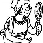 Ancient Girl Rome Mirror Coloring Page