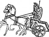 Ancient Roman Chariot Racing Coloring Page