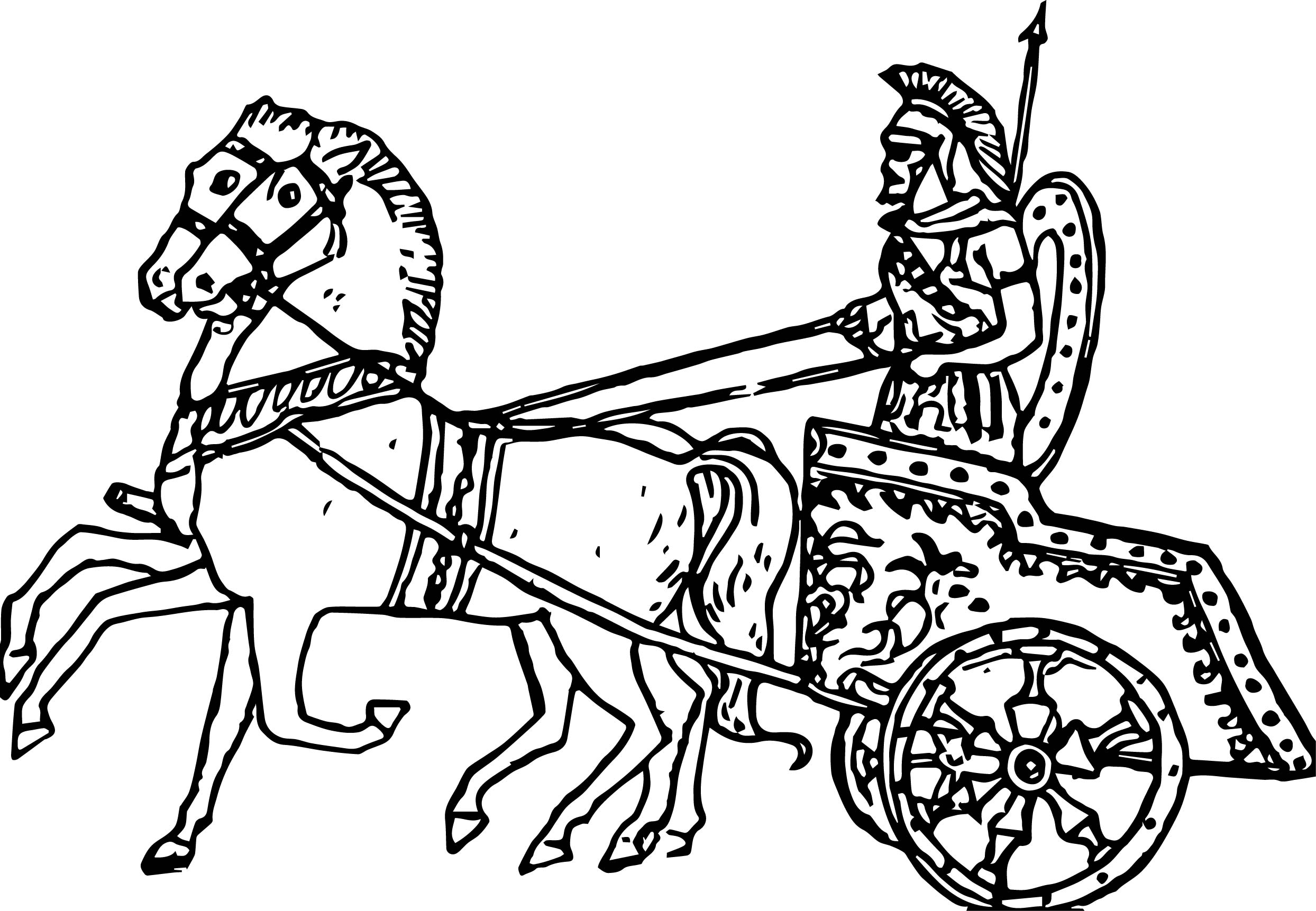 Roman Chariots Drawings Greek Chariot C...
