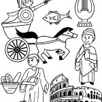 Ancient Rome Collection Coloring Page