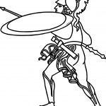Ancient Rome Soldier Coloring Page