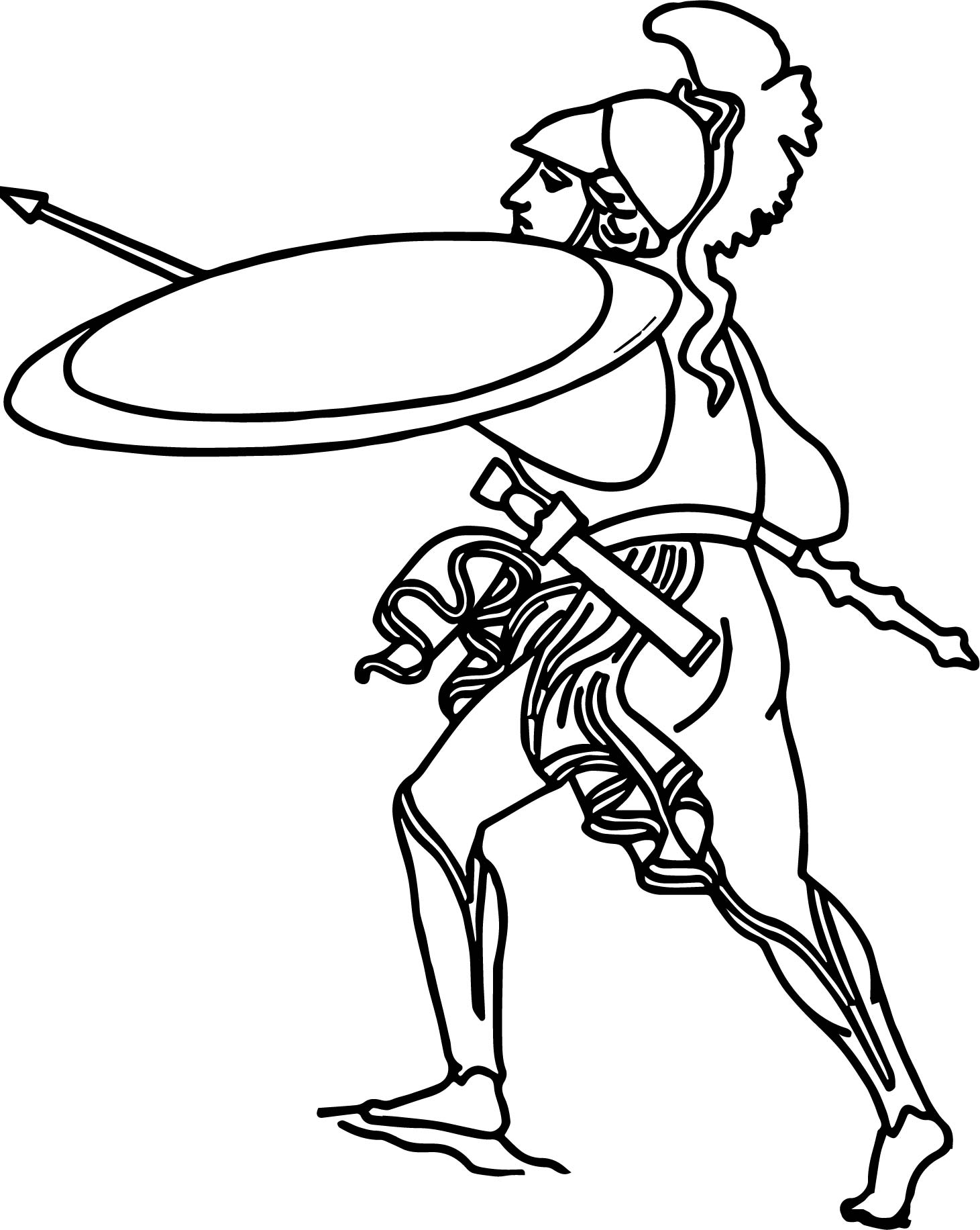 ancient roman coloring pages | Ancient Rome Soldier Coloring Page | Wecoloringpage.com