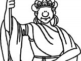 Ancient Rome Statue Coloring Page
