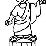 Ancient Rome Talk Coloring Page