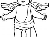 Angel Boy Coloring Page