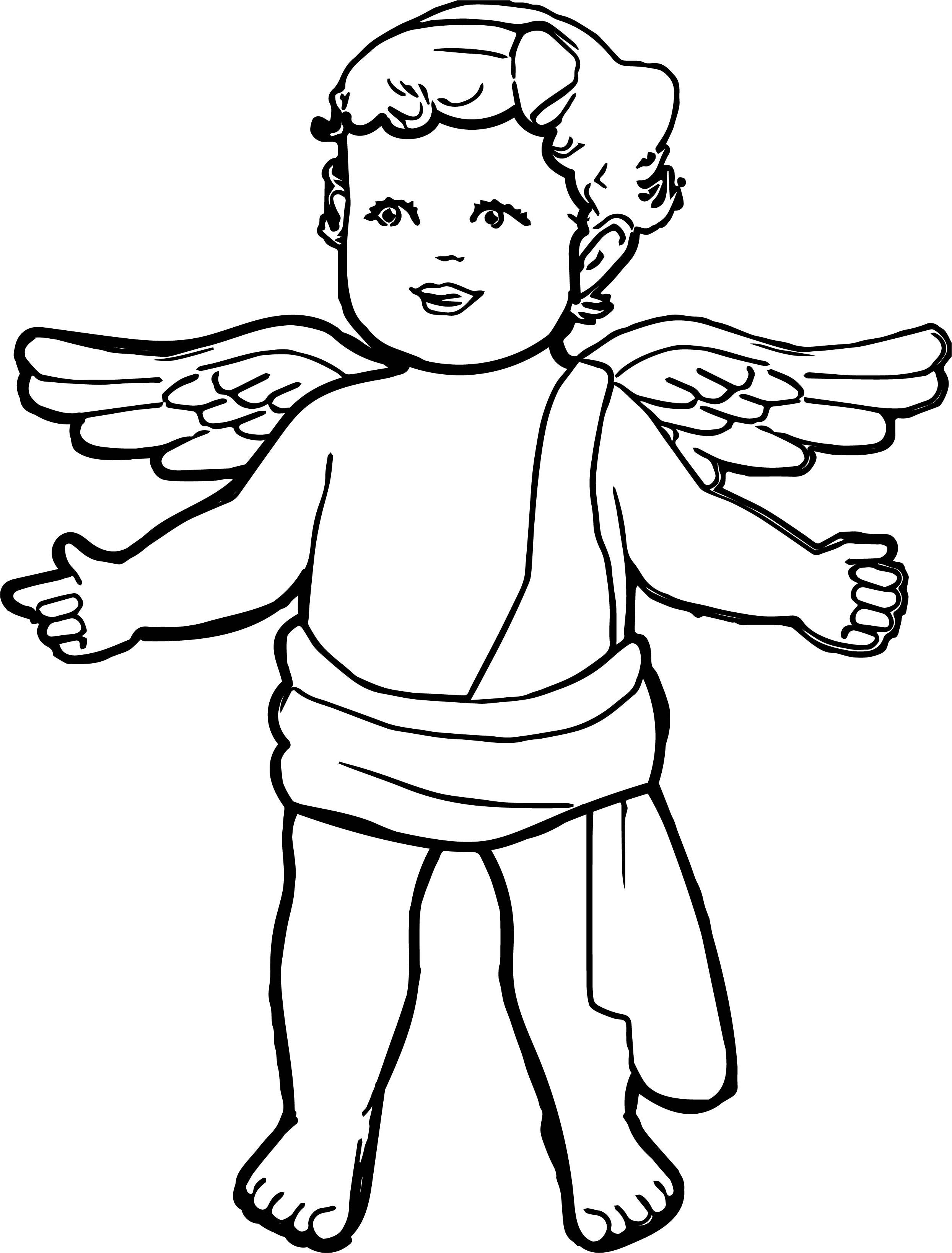 Angel boy coloring page for Angel coloring pages