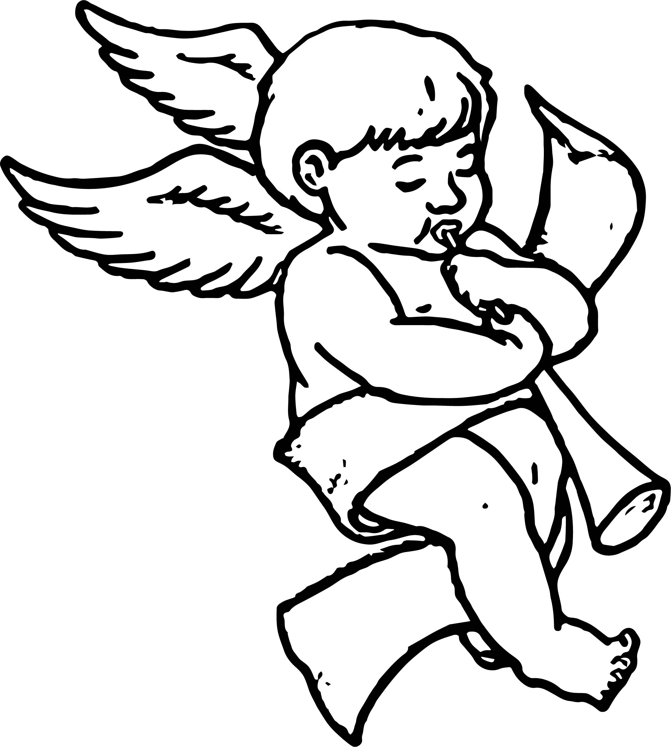 Angel Boy Song Coloring Page