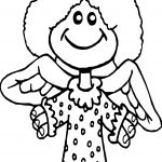 Angel Girl Coloring Page