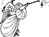 Angel Magic Coloring Page