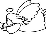 Angel Star Coloring Page