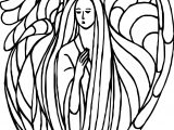 Angel Table Coloring Page