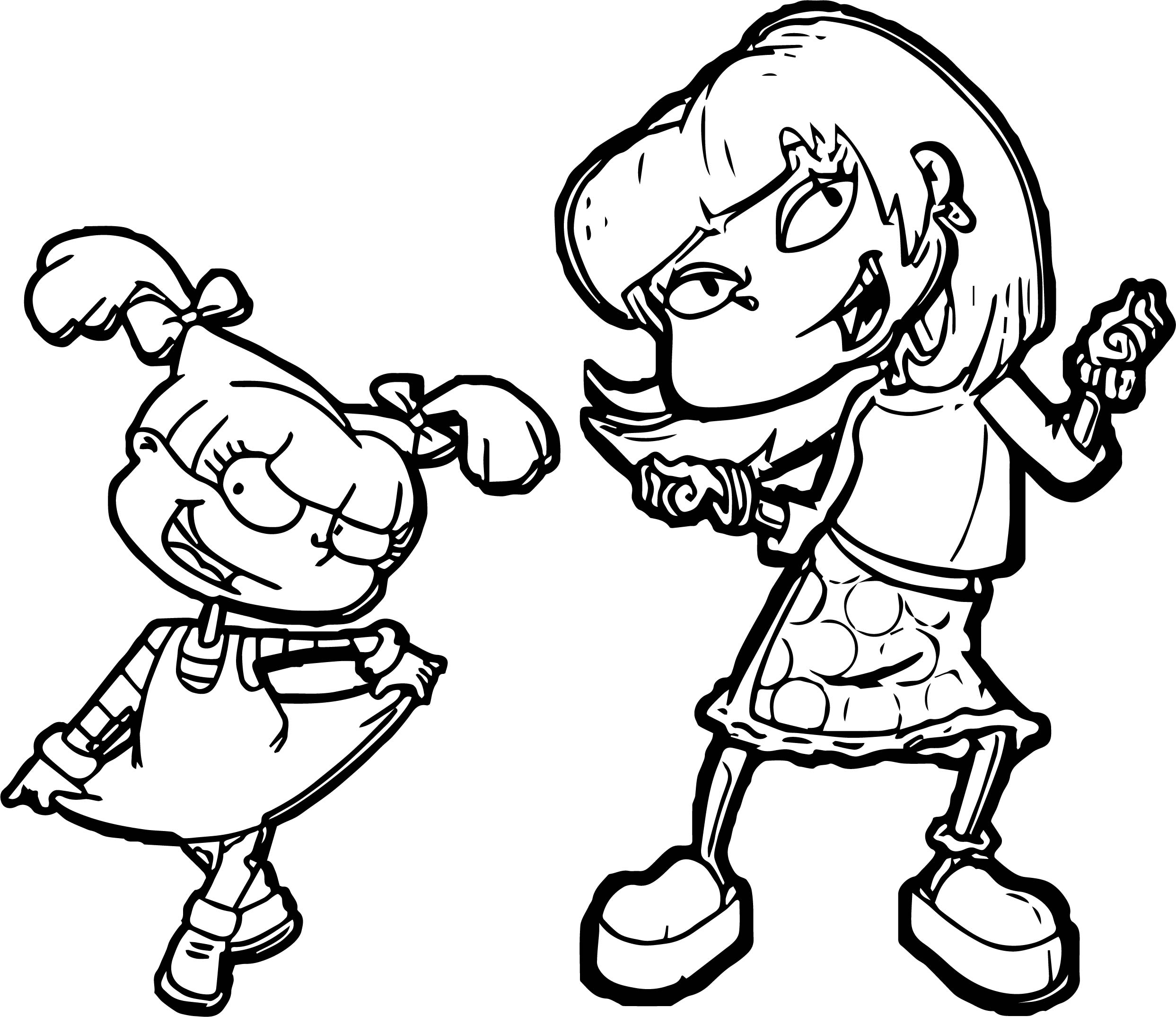 coloring pages of pickles - angelica pickles coloring page