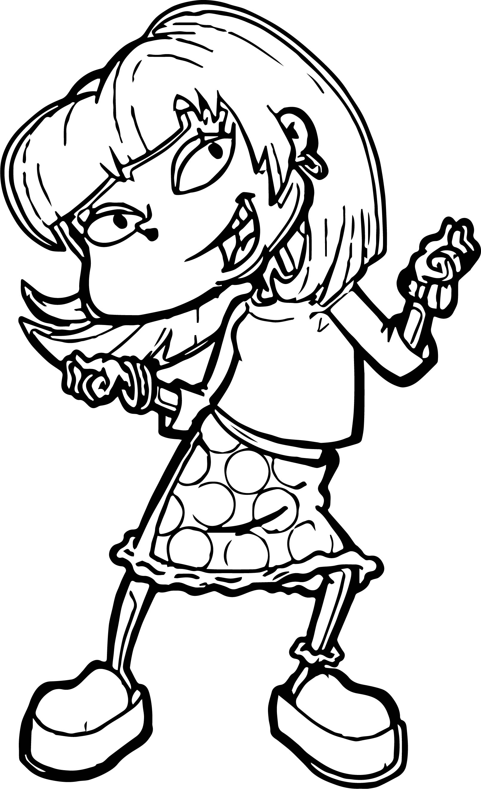 Angelica Rugrats All Grown Up Coloring Page