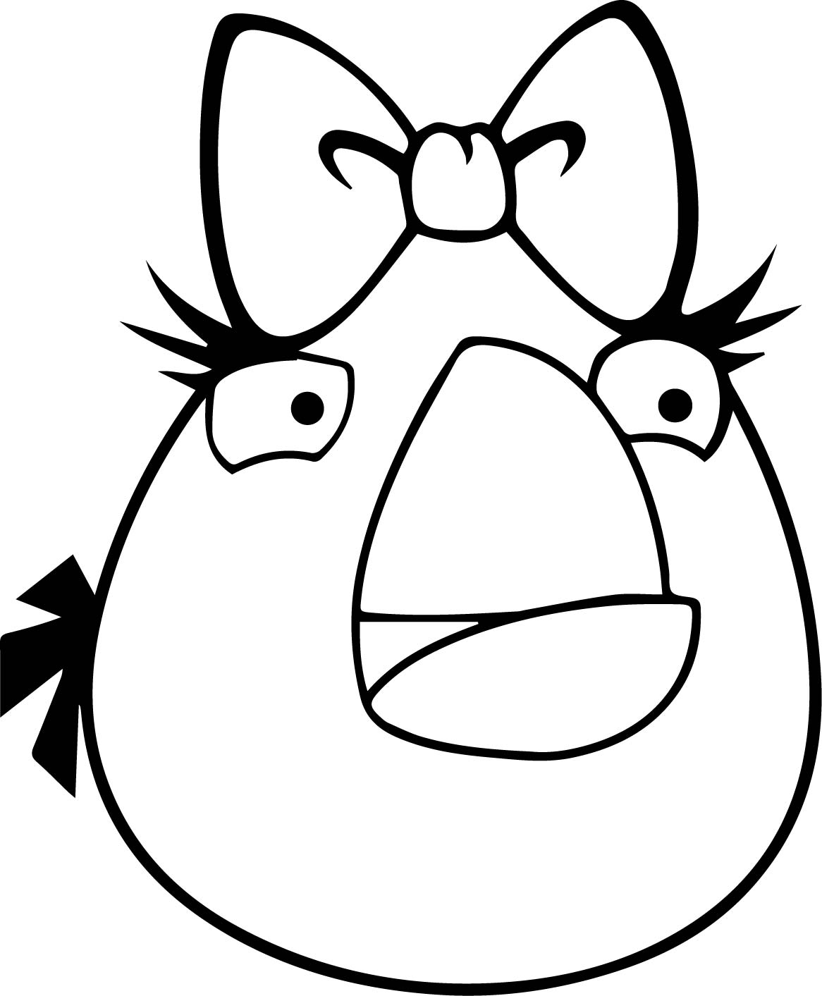 Angry bird girl white bird coloring page for Blue angry bird coloring page