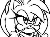 Angry Face Amy Rose Coloring Page